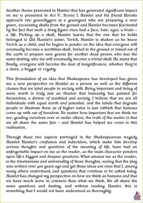哈姆雷特读后感